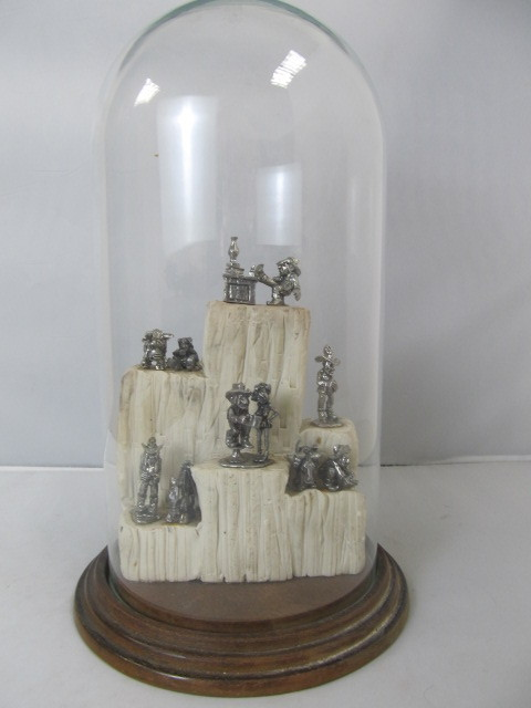 Pewter Gold Miner Figurines Display | Little Canada Estate