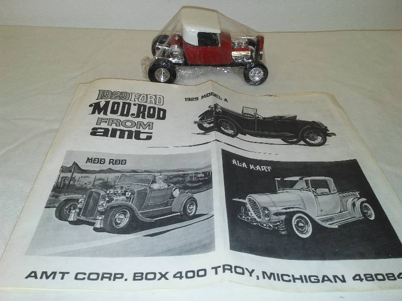 Amt Mod Rod 1929 Model A Custom T254 Assembled With Instructions