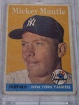 1958 Mickey Mantle Authentic Baseball Card