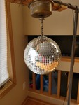 1970s Glass Disco Ball