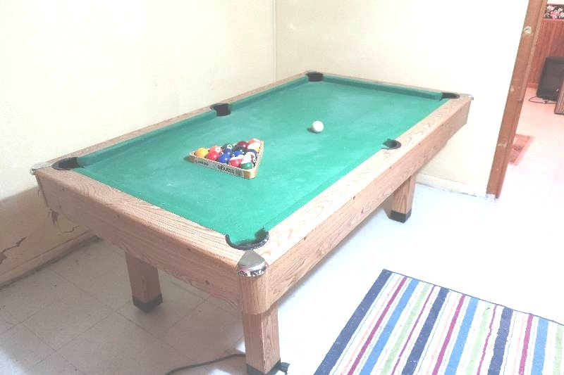 SPORTCRAFT POOL TABLE AND BALLS LUDWIG ESTATE SALE 3 PORTLAND ND