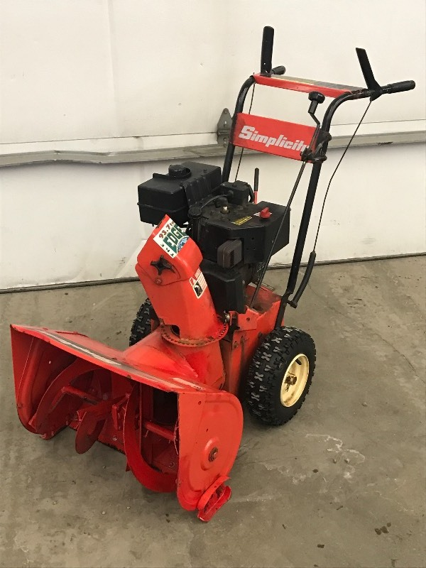 Simplicity Snow Blower | LE January Snow Blowers #2 | K-BID