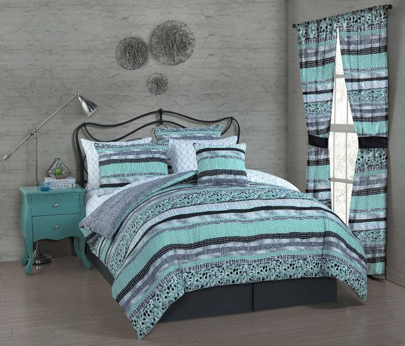Alcove cleo 8 pc bed set queen teal bedding home improvement furniture in burnsville k bid Home choice furniture burnsville mn