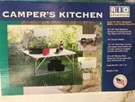 PORTABLE CAMPER'S KITCHEN TABLE