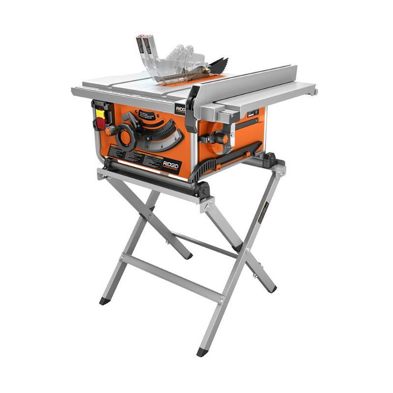 Ridgid 15 Amp 10 In Compact Table Saw With Folding X Stand In Like New Working Conditions Kx