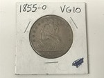 1855-O Seated Liberty Silver Half D...