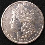 1891 S Morgan Silver Dollar...