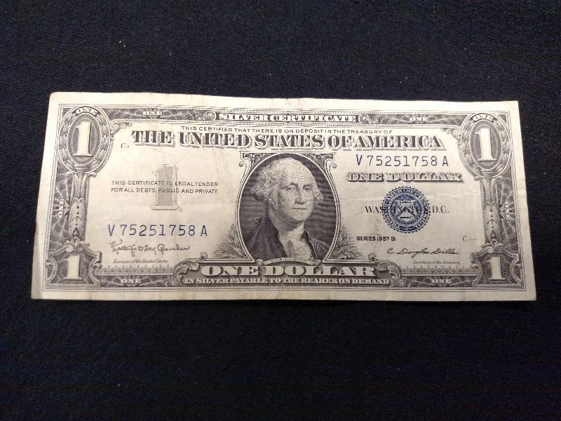 1957 B Silver Certificate One Dolla... | USA Coins & Currency 5 | K-BID