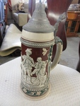 1 LITER STEIN WITH PEWTER LID