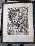 SIGNED KARL BAUER PEN AND INK DRAWING