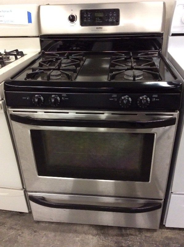 Kenmore Stainless Steel Four Burner Gas Stove A1