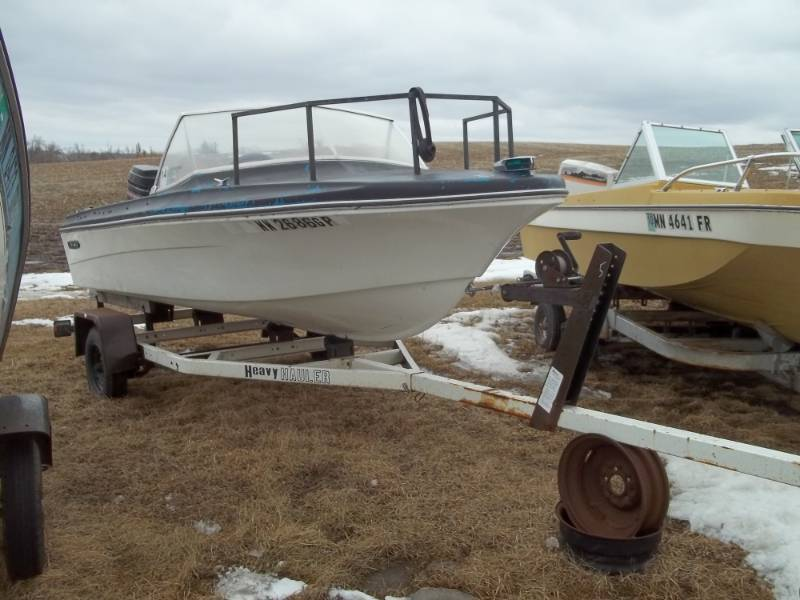 1968 Sears boat and trailer with 50 HP Mercury outboard