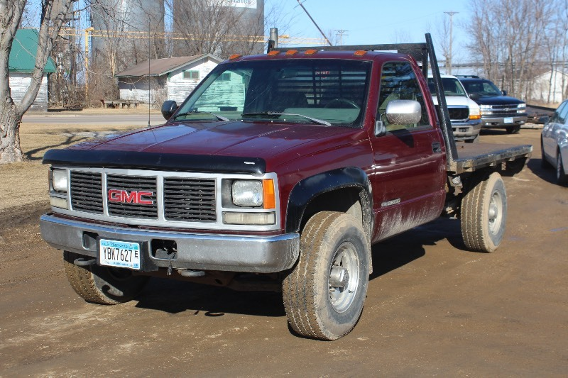 1993 GMC K3500 Sierra 4x4 - 6 5 Diesel - Manual - Flatbed