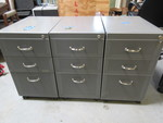 STEELCASE ROLLING LETTER AND FILE DRAWER UNITS