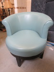 AQUA LEATHER SWIVEL CHAIR