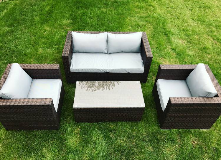 Isles 4 Piece Outdoor Patio Set | MN Home Outlet Auctions Burnsville Patio  Sets | K BID
