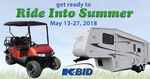Ride into Summer Event - May 13th - 27th