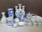ASIAN BLUE AND WHITE CERAMICS
