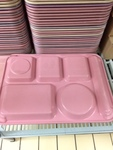 59 Sectioned Plastic lunch trays