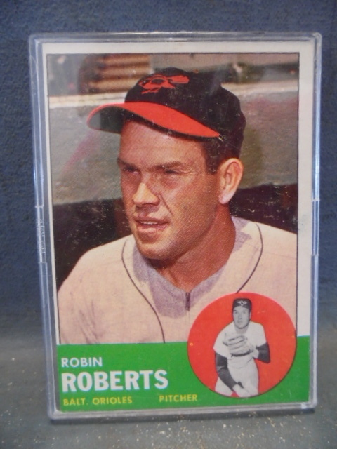 1963 Robin Roberts Baseball Card Cereal Boxes Cards And