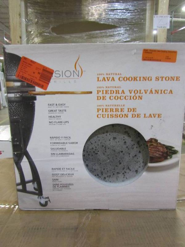 Vision Grills Dual Purpose Lava Cooking Stone Heat Deflector Mn Home Outlet Auctions Burnsville 43 K Bid