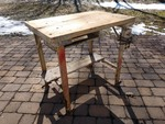 Maple Plank Industrial Work Bench