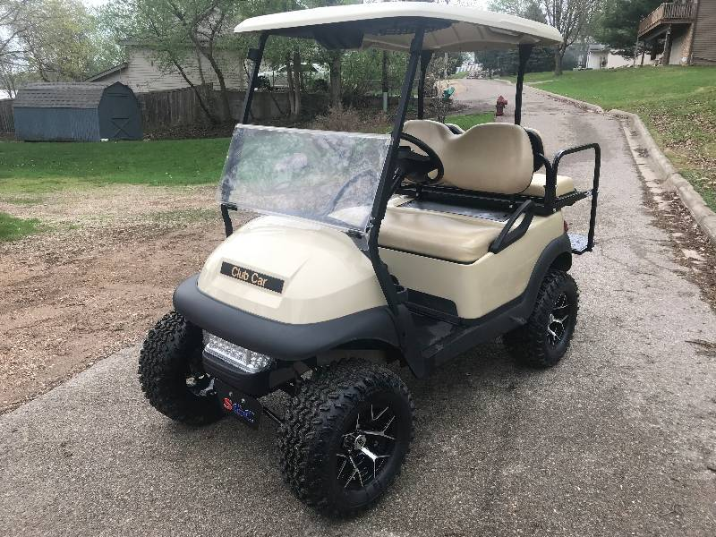 2014 Club Car Precedent Electric Lifted 4 Passenger Golf Cart Ride