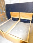 Two-----Complete Twin Size Bed Frames  (Oak)