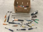 Box Of Assorted Hand Tools, Drill Bi...