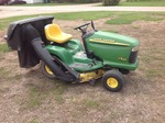 John Deere LT155 Mower with Bagger