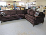 LEATHER TRIMMED, SECTIONAL SOFA