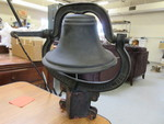 VERY OLD SCHOOL BELL WITH CRADLE