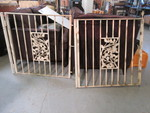 2 WROUGHT IRON GATES