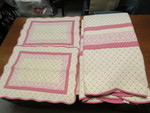 AMERICAN CANCER SOCIETY QUILT AND PILLOW SHAMS