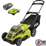 Ryobi 20 in. 40-Volt Brushless Lithium-Ion Cordless Battery Walk Behind Push Lawn Mower 5.0 Ah Battery and Charger Included not used