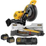 DEWALT FLEXVOLT 120-Volt MAX Lithium-Ion Cordless Brushless 12 in. Miter Saw w/ AC Adapter, (2) Batteries 2Ah and Charge NEW