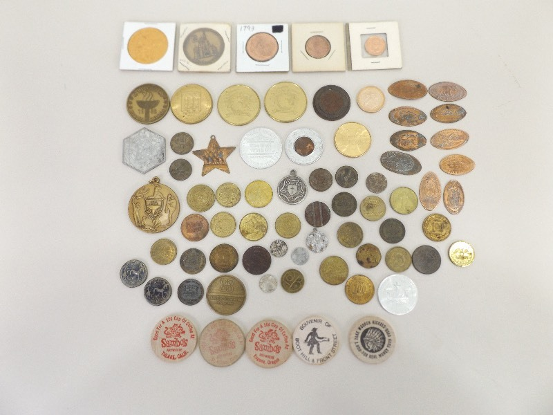 Lot of Tokens, Metals, Novelty Coins, etc  | EC #232 Estate