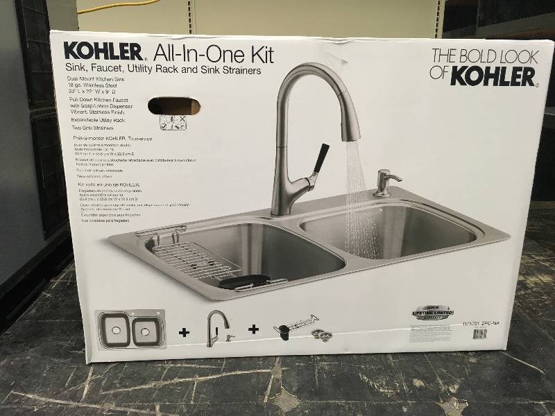 Kohler Stainless Steel Sink/Faucet, Retail $279.99 | MAY ...