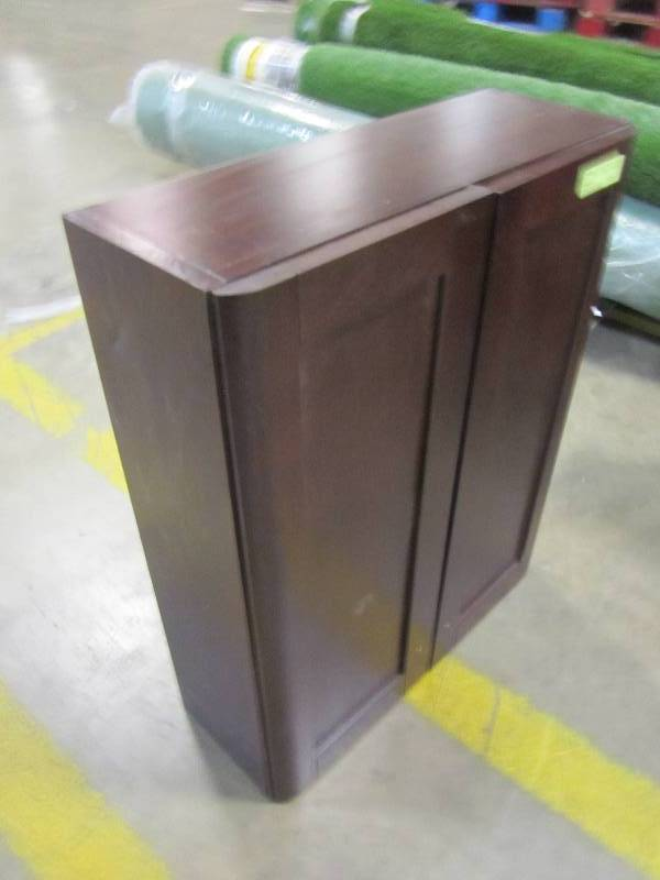 BATHROOM WALL MEDICINE CABINET IN CHESTNUT | MN Home Outlet Auctions  Burnsville #50 | K BID