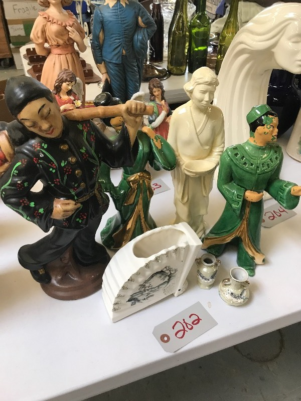 Lot Of Oriental Themed Statues Figures Collectibles