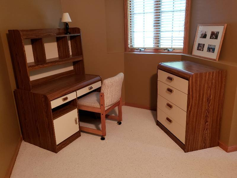Set Of Matching Desk Dresser And Chair Furniture