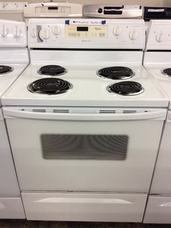 Whirlpool White Coil Top Electric Stove | Auction 6 | K-BID