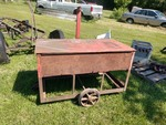 Red Industrial Cart w/ Lid on Casters