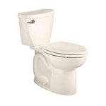 American standard Cadet 3 Tall Height Complete 2-Piece 1.28 GPF Single Flush Round Toilet in White