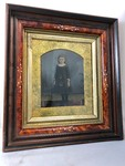 Beautiful Antique Large Full Plate Framed Tintype of Young Girl
