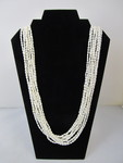 Genuine 10 Strand LONG Freshwater Pearl Necklace