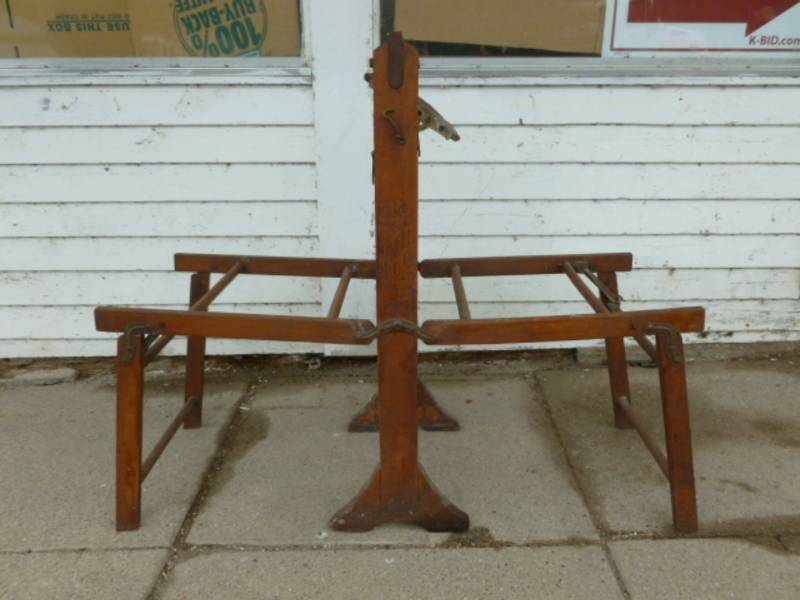 Antique Wash Tub Stand Manannah 324 Mortising Machine Redlins