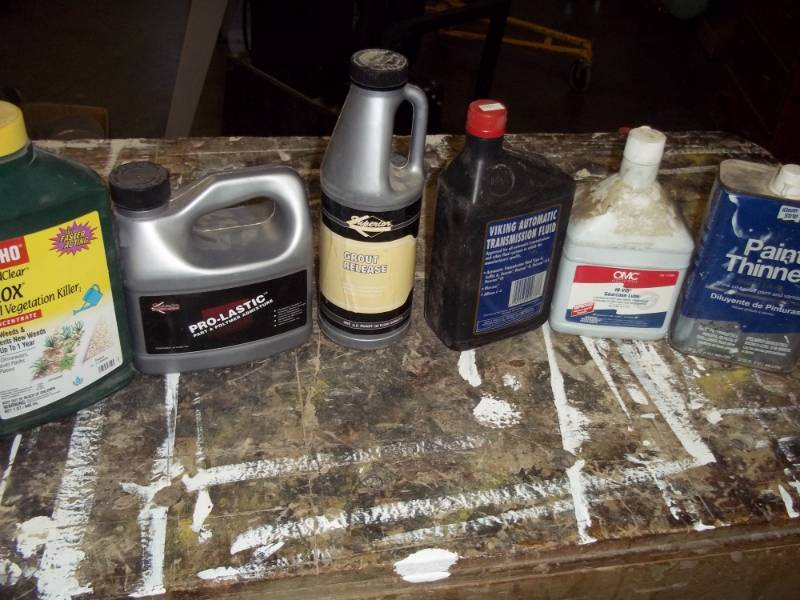 Assorted items, Oil, Paint Thinner | Advanced Sales