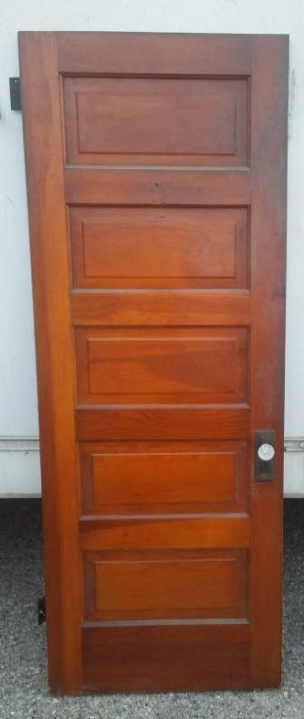Gentil 5 Panel Wood Door, Solid With Vintage Glass Knobs, 30 W X 80 H. | MPLS  METRO   CHEAP SHIPPING! Autographed Carson Wentz Rookie Card, Antique Doors,Toys,  ...