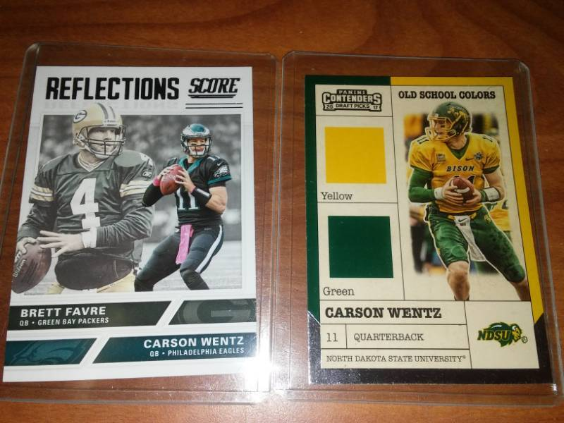 2 Carson Wentz Rookie Cards Mpls Metro Cheap Shipping